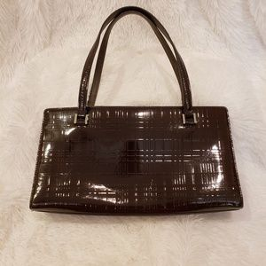 Vintage Burberry Patent Leather Shoulder Bag